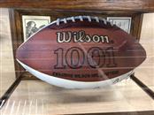 Redskins Autographed Wilson Football (Theisman, Baugh, Kilmer, Jurgensen)